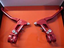 1X Fouriers Aluminium Bremshebel Rot High-End V-Brake Bremse Bremsgriff