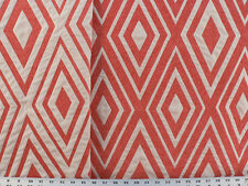 Drapery Upholstery Fabric Reversible Chenile Jacquard Diamond Design - Coral