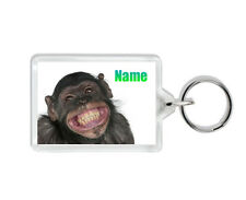 Funny Personalised Monkey Keyring - Add Any Name - For All Ages - Have Fun Gift