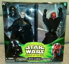 Hasbro Star Wars Power of Jedi- Sith Lords - Darth Vader Darth Maul 2-Figure...