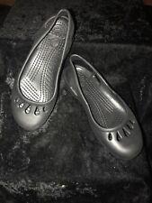 Girls Crocs Slingback Flats Size 4 Black