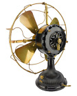 1901 16' GE Pancake Antique Brass Blade Cage Desk Fan General Electric