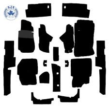 Teppichsatz für Mercedes W123 Limousine schwarz 17 Teilig Kunstleder verziert+2M