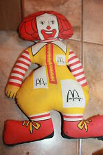 "Vtg Ronald McDonald Plush Doll Stuffed Toy Cloth 16"" Advertising 1967"