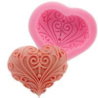 3D Heart Silicone Fondant Mold Cake Decorating Chocolate Sugarcraft Baking Mold