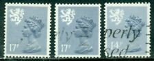 GREAT BRITAIN SCOTLAND SG-S43 SCOTT # SMH-30a MACH., USED, 3 STAMPS, GREAT PRICE