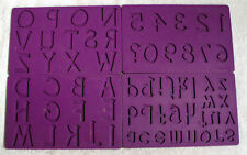 "Wilton Fondant and Gum Paste Silicone Mold Set  Purple Letters & Numbers 5"" x 8"""