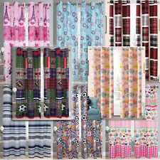 """Childrens Window Curtain Set With Grommets for Kids Bedroom (1 Pair W80"""" x L84"""")"""