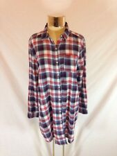 Women's Forever 21 Button-down Western Long Sleeved Long Length Shirt - Size M