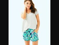 Lilly Pulitzer NEW Womens Sz Large Blue Beach Summer Katia Shorts High Tide $78