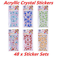 Assorted Colors Rhinestone Gems Self Adhesive Stick on Crystals Crystal Stickers