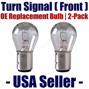 Front Turn Signal Light Bulb 2pk-Fit Listed International Harvester Vehicles-198