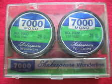 VINTAGE SHAKESPEARE WONDERLINE 2-100 YARD SPOOLS 25 LB TEST FISHING LINE NOS
