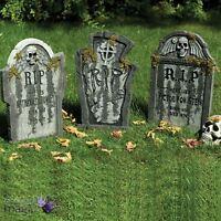 Gravestone Tombstone Graveyard Ground Stake Party Prop Halloween Decoration 56cm