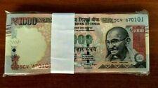 INDIA 1000 1,000 New Rupees Symbol UNC Lot X 50 Pcs Bundle GANDHI OIL RIG NOTE