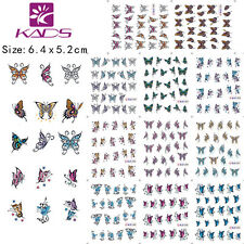 11 Sheets/Lot Butterfly Nail Art Stickers Water Transfer Decals BLE1390-1400