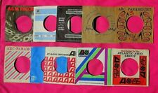Lot of (60) 45 rpm Company Sleeves from the 50's, 60's & 70's