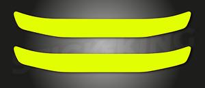 2 X Fluorescent Yellow Hi Viz Dayglo Helmet Visor Sunstrip Sticker Decal - 300mm