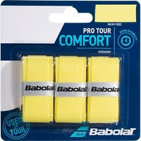 BABOLAT PRO TOUR OVERGRIP - PACK OF 3 GRIPS - YELLOW - RRP £10