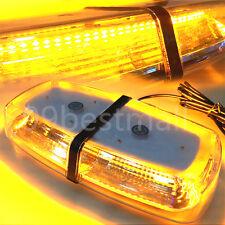 12/24V LED 72W Amber Vehicle Roof Lightbar Flashing Beacon Strobe Light Magnetic
