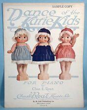 1919 Kewpie Doll Statue Photo Cover Original Sheet Music Dance of the Kutie Kids