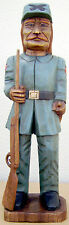 "Confederate Soldier, Hand Carved Wood,  20"" tall, sns35"