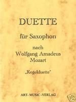 SAXOPHON 14 DUETTE NACH W.A. MOZART ( NOTEN )