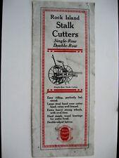 1926 ROCK ISLAND PLOW Co. STALK CUTTER BROCHURE