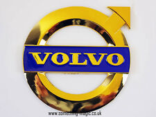GOLD PLATED Enamel NEW STYLE VOLVO Emblem Car Badge