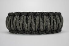 550 Paracord Survival Bracelet King Cobra Black/Charcoal Gray