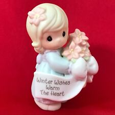 Precious Moments 2000 Winter Wishes Warm the Heart 184241 Little Girl w/ Flowers