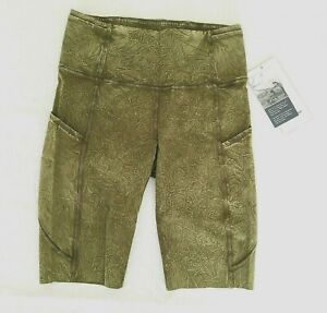 "Lululemon Fast Free HR Short 10"" Size 6 Wash Moss Green NWT"