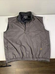 Men's DryJoy FootJoy Sleeveless Golf Windbreaker Rain Proof Jacket Sz XL