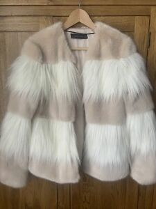 BNWOT ZARA FUR JACKET SIZE SMALL LOOK