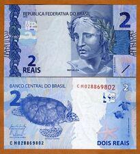 Brazil, 2 Reais, 2010 (2015), P-252-New,  UNC > Sea Turtle