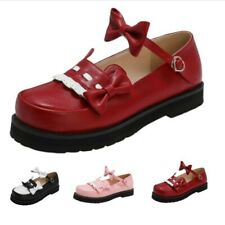 Sweet Ladies Girls Party Bowknot Lolita Mary Janes Flats Casual Shoes Pumps D