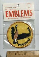 NIP Moosonee Ontario Canada Flying Goose Round Embroidered Souvenir Patch Badge