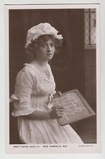 POSTCARD - Gabrielle Ray, Edwardian stage beauty, theatre actress, holding slate