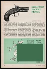 1965 Deringer Pocket Pistol Exploded View.Parts List. Assembly Article
