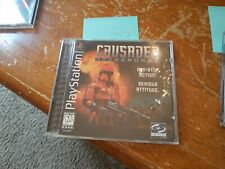 Playstation PS1 Black Label Crusader No Remorse w/ case instructions COMPLETE