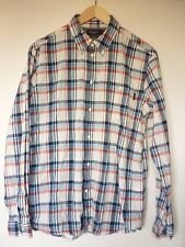 PAUL SMITH JEANS RED WHITE BLUE PLAID CHECK SHIRT 100% COTTON SIZE M