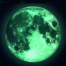 Wandtattoo VOLLMOND Mond Selbstklebend leuchtend Sticker Aufkleber Sternenhimmel