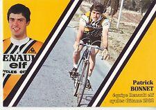 CYCLISME carte cycliste PATRICK BONNET équipe RENAULT elf GITANE 1982