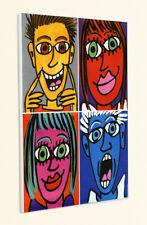 Face It Arte Pop Pintura Caras Colorido Colores Artística Poster Rizzi Placa 28