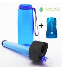 Revive H2O Survival Filter Water Bottle Set - Includes Squeeze Bottle