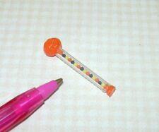 "Miniature ""Lola"" Christmas Pumpkin Head Candy Wand, 1 1/4"" Tall: DOLLHOUSE 1/12"