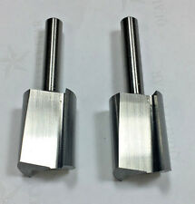 "2 PCS Vermont  3/4 Straight High Speed Steel Router Bit, 1/4"" Shank"