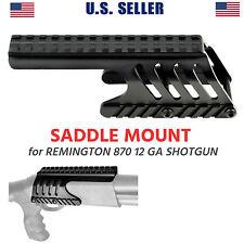 Remington 870 12 GA Saddle Tactical Scope Sight Rail Shotgun Mount Forend Black
