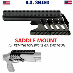 Remington 870 Saddle Mount Forend Top Rail For RDS Sight, Aluminum - US Seller