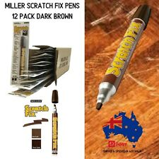 Miller Scratch Fix Pens 12 Pack Dark Brown Colour - Furniture Touch Up Pens